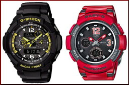 カシオ Baby-G 腕時計(メンズ) CASIO/G-SHOCK/Baby-G【カシオ/Gショック/ベビーG】ペアウォッチ ソーラー電波腕時計 ブラック/レッド(国内正規品)GW-3500B-1AJF/BGA-2100-4BJF【02P03Dec16】