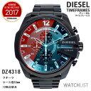 腕時計 ディーゼル(メンズ) ディーゼル 腕時計 クオーツ メンズ クロノ ブラック DZ4318 ミラーガラス ウォッチ DIESEL 時計 うでどけい