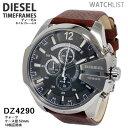 腕時計 ディーゼル(メンズ) 【送料無料】ディーゼル DIESEL クオーツ メンズ クロノ 腕時計 DZ4290 メンズ Mens 革ベルト ウォッチ 時計 うでどけい