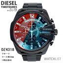 腕時計 ディーゼル(メンズ) 【送料無料】ディーゼル 腕時計 クオーツ メンズ クロノ ブラック DZ4318 ミラーガラス ウォッチ DIESEL 時計 うでどけい