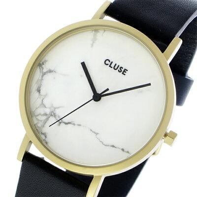 クルース CLUSE ラロッシュ 大理石モデル 38mm ユニセックス 腕時計 CL40003 ゴールド ホワイトマーブル/ブラック