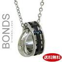 ボンズアンドピース ステンレス ネックレス BONDS ボンズ ダブルリングネックレス HOLY メンズ BN-2520M シルバー×ブラック 【楽ギフ_包装】【楽ギフ_メッセ入力】【RCP】