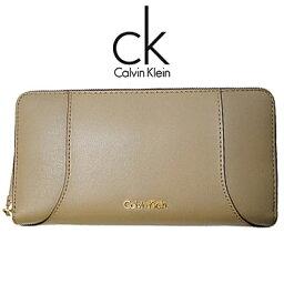 カルバンクライン カルバンクライン 財布 Calvin Klein レディース 長財布 ラウンドファスナー K60K602086 068 ベージュ