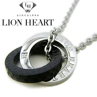 ライオンハート ネックレス メンズ LION HEART ダブルリングネックレス 04N135SM ステンレスネックレス 【楽ギフ_包装】【楽ギフ_メッセ入力】【RCP】
