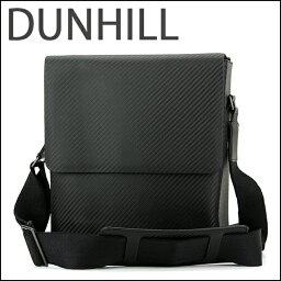 ショルダーバッグ ダンヒル ショルダーバッグ dunhill L3J260A バッグ シャーシ CHASSIS ノースサウスバッグ メンズ BLACK ブラック 黒 カーボン調 スタイリッシュ カジュアル【 送料無料】