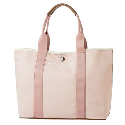 【10%OFF楽天スーパーSALE対象☆】マークジェイコブス トートバッグ MARC JACOBS M0012008 660 バッグ キャンバス CANVAS トート レディース PALE PINK ペールピンク クリスマス ロゴ A4収納可 シンプル スタイリッシュ【 送料無料】