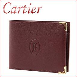 カルティエ カルティエ 2つ折り財布 CARTIER L3001368 財布 マスト MUST メンズ ボルドー 赤 シンプル【 カルチェ 送料無料 楽天】