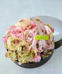 プリザーブドフラワー(フラワーケーキ) 再販【送料無料 完成品 造花】リングピロー・ブライダル・ウエディング・結婚式やWeddingパーティ、披露宴や受付に。プリザーブドフラワーのような繊細さ リングピローボックスフラワー