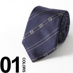 フェンディ フェンディ FENDI ネクタイ シルク BLUE ズッカ ストライプ ブランド メンズ ビジネス 雑貨 FDA2SQF0PJ4