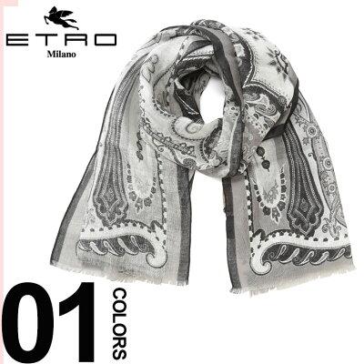 48815048153a ETRO (エトロ) リネン100% ペイズリー柄 ストールブランド レディース メンズ ユニセックス ファッション