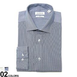 カルバン・クライン Calvin Klein (カルバン クライン) ストレッチ ノーアイロン ホリゾンタルカラー 長袖 ドレスシャツ SLIM FITブランド メンズ 男性 紳士 ビジネス シャツ ワイシャツ フォーマル 長袖シャツ きれいめ CK33K3767