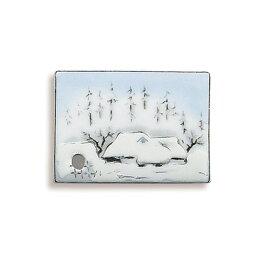 お香立て 季節の文様香立(雪景色)
