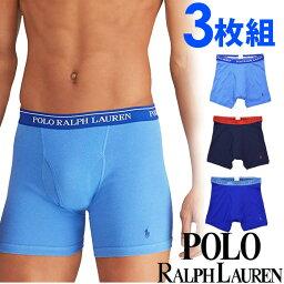 Polo Ralph Lauren POLO RALPH LAUREN ポロ ラルフローレン メンズ クラシックフィット ボクサーパンツ 3枚セット ネイビー ブルー ライトブルー polo ロゴ トランクス S M L XL おしゃれ ブランド 大きいサイズ【あす楽】[RCB2P3/LCBB/rs71a2d]