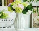 花瓶 【花瓶】【花器】【陶器】【フラワーベース】【北欧】【花入れ】 【アンティーク】 ホワイト(白)おしゃれ