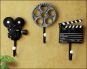 カチンコ  壁飾り フック 壁掛けフック レトロ 撮影道具 カチンコ ウォールフック ユニーク 小物掛け アンティーク風 鍵かけ