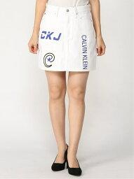 カルヴェン [Rakuten Fashion]【SALE/74%OFF】【カルバン クライン ジーンズ】 レディース デニム ミニ スカート HIGH RISE MINI SKIRT J210903 Calvin Klein カルバン・クライン スカート ミニスカート ホワイト【RBA_E】【送料無料】