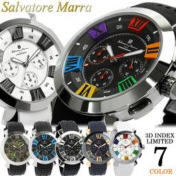 サルバトーレマーラ 【Salvatore Marra/サルバトーレマーラ】 腕時計 メンズ クロノグラフ 立体インデックス 限定モデル ラバー SM14102 ウォッチ MEN'S 多針アナログ 父の日 ギフト
