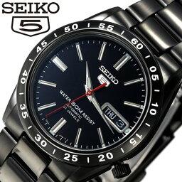 セイコーファイブ 腕時計(メンズ) [5年延長保証][セイコー腕時計 [SEIKO時計](SEIKO 腕時計 セイコー 時計) セイコー 5 (SEIKO 5) セイコーファイブ メンズ/ブラック/SNKE03KC[ギフト/プレゼント/ご褒美][おしゃれ腕時計][新生活][母の日]