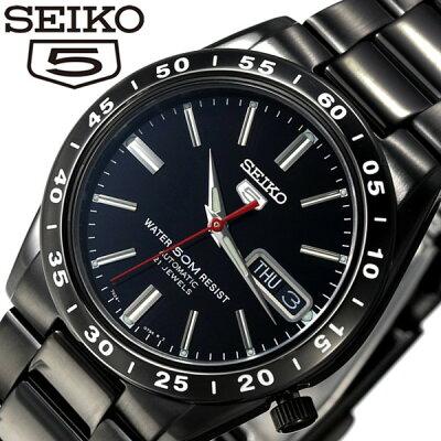 [5年保証][セイコー腕時計 [SEIKO時計](SEIKO 腕時計 セイコー 時計) セイコー 5 (SEIKO 5) セイコーファイブ メンズ ブラック SNKE03KC[ギフト プレゼント ご褒美][ おしゃれ ブランド ]