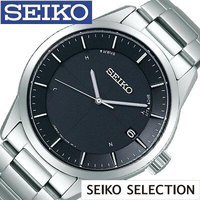 SEIKO 腕時計 セイコー 時計 セイコーセレクション SEIKO SELECTION メンズ ブラック SBTM249 [ 正規品 ビジネス スーツ オフィスカジュアル シンプル ラウンド チタン ソーラー 電波時計 ブランド プレゼント ギフト]