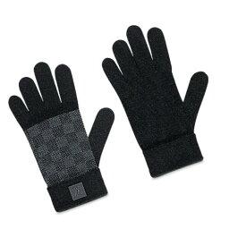 ルイヴィトン 手袋(メンズ) LOUIS VUITTON 手袋 グローブ M70006 ノワールブラック ウールニット ゴン プティ ダミエルイ ヴィトン メンズ【新品・未使用・正規品】