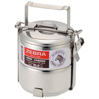 ゼブラ 弁当箱 ステンレス 2段 ランチボックス 丸型 10cm×2段 ZEBRA 正規品 2段 女子 大人 おしゃれ かわいい お弁当箱