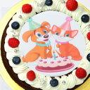 オリジナル写真のデコレーションケーキ シェリーブランの蒸しショコラ キャラクタープリントケーキ4号サイズ直径12cm≪2〜3名用サイズ≫から≪7〜10名用≫6号サイズ直径18cmまでご用意ベルギー産チョコのキャラクタープリントケーキ