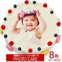 オリジナル写真のデコレーションケーキ スーパーSALE10%OFF マカロン 写真ケーキ8号サイズ直径24cm≪15〜18名用サイズ≫☆3種類から選べる写真ケーキ 子供から大人がたのしめる新定番 写真 ケーキ をご賞味あれ
