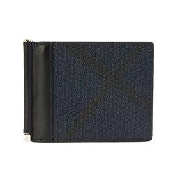 バーバリー マネークリップ バーバリー BURBERRY 財布 メンズ 二つ折り財布(マネークリップ) ネイビー/ブラック QUILLEN 3996187 PCAL 4100B NAVY/BLACK 【英国】
