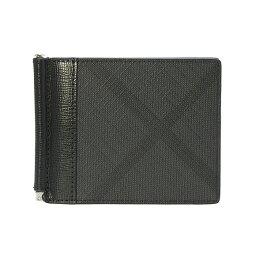バーバリー マネークリップ バーバリー BURBERRY メンズ 二つ折り財布(マネークリップ) チャコールグレー QUILLEN4064785 PCAL A02600 CHARCOAL/BLACK【英国】