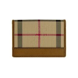 バーバリー 名刺入れ バーバリー BURBERRY メンズ 名刺入れ(カードケース) ホースフェリーチェック/タンブラウン CARD HOLDER 3978335 HNC:ABHTI 2160T TAN