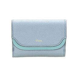 クロエ 財布(レディース) クロエ CHLOE 財布 レディース 三つ折り財布 ミニ財布 EASY COMPACT WALLET [イージー] ウォッシュドブルー CHC17WP973 H8J 4E2 WASHED BLUE