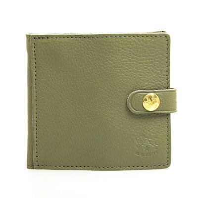 イルビゾンテ IL BISONTE 財布 二つ折り財布(小銭入れ付) ミニ財布 オリーブグリーン C0508 EP 955 OLIVE