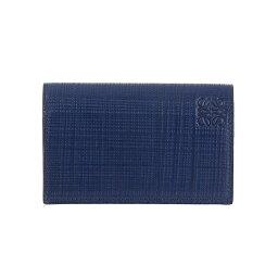 ロエベ 名刺入れ ロエベ LOEWE 名刺入れ(カードケース) ネイビーブルー LINEN BUSINESS CARD HOLDER [リネン ビジネスカードホルダー] 101 88 M97 5110 NAVY BLUE