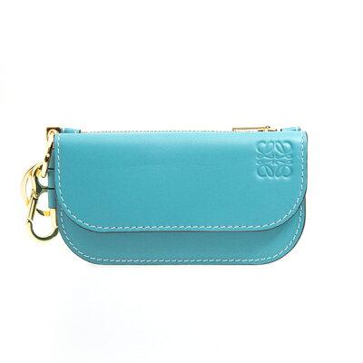 ロエベ LOEWE 財布 レディース カードケース/コインケース ライトブルー GATE MINI WALLET 113 54 U57 5140 LIGHT BLUE
