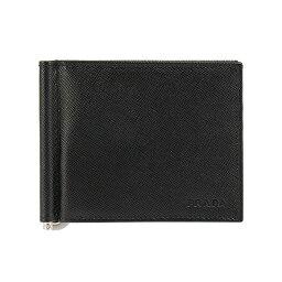 プラダ マネークリップ プラダ PRADA メンズ 財布 二つ折り財布(マネークリップ) ブラック WALLET PORTAF. A MOLLA 2MN077 053 F0002 NERO 2M1077 053 F0002