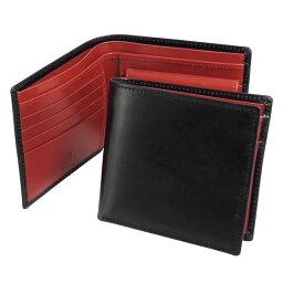 ホワイトハウスコックス 二つ折り財布(メンズ) ホワイトハウスコックス WHITEHOUSE COX 財布 メンズ 二つ折り財布(小銭入れ付) ブラック/レッド COIN WALLET BRIDLE 2TONE S7532 BLACK/RED【英国】