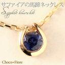 サファイア ネックレス(レディース) サファイア ネックレス K18YG/PG/WG サファイア 馬蹄 ネックレス ペンダント ホースシュー プレゼント 一粒 結婚式 卒業式 入学式 ブルー k18yg Sapphire necklace