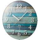 BRUNO(ブルーノ) 時計 イデア idea ブルーノ BRUNO 電波ビンテージウッドクロック ブルー BCR008-BL