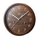 BRUNO(ブルーノ) 時計 イデア idea ブルーノ BRUNO ウッド温湿ウォールクロック ダークウッド BCW022-DW
