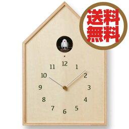 鳩時計 レムノス Lemnos 掛時計 バードハウス クロック Birdhouse Clock ナチュラル NY16-12 NT *受注後に納期をお知らせ致します。 【送料無料】