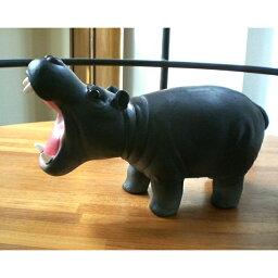 カバの置物 プエブコ PUEBCO ラバーアニマルズ RUBBER ANIMALS カバ Hippo グレー 105109