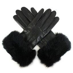 コーチ 手袋(メンズ) 【COACH】 コーチ ファー カフス レザー グローブ サイズ7.5 F83731 BK/BK【YDKG-kd】【RCP】【楽ギフ_包装】