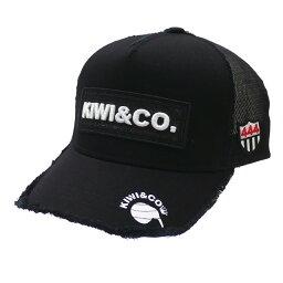 ヨシノリコタケ 新品 ヨシノリコタケ YOSHINORI KOTAKE x パームスアンドコー Palms&co. KIWI WAPPEN TWILL MESH CAP キャップ BLACK ブラック メンズ ヘッドウェア