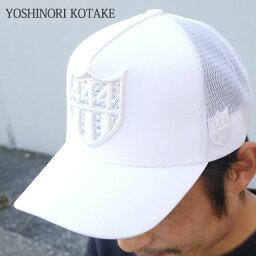 ヨシノリコタケ 新品 ヨシノリコタケ YOSHINORI KOTAKE x バーニーズ ニューヨーク BARNEYS NEWYORK HOLOGRAM 444LOGO MESH CAP キャップ WHITE ホワイト メンズ 新作 ヘッドウェア