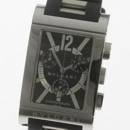 レッタンゴロ 腕時計(メンズ) 【ブルガリ】レッタンゴロ クロノグラフ RTC49S クォーツ メンズ
