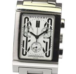 レッタンゴロ 腕時計(メンズ) 箱付★ブルガリ レッタンゴロ クロノグラフ RTC49S QZ メンズ