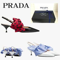 プラダ 【新品■正規品■送料無料■ギフト包装無料】PRADA プラダ レディースリボンミュールサンダル 1I758I 靴 女性 ギフト プレゼント 誕生日 お祝い