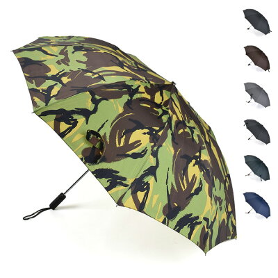 FOX UMBRELLAS フォックスアンブレラズ Black/Brown Maple Straight Handle 折りたたみ傘(58cm) TEL2 メンズ/傘/英国製/ギフト【AW】【送料無料】【SSFU】