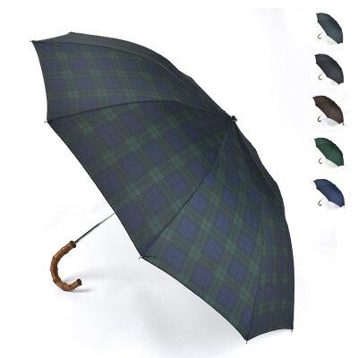 FOX UMBRELLAS フォックスアンブレラズ Whanghee Crook Handle 折りたたみ傘(58cm) TEL4 メンズ/傘/英国製/ギフト【AW】【送料無料】【SSFU】